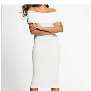 NWT! NY& Co. Off the shoulder Sweater White Dress